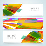 Abstract website header or banner set. Stock Photo