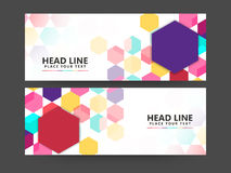 Abstract website header or banner set. Colorful Abstract website header or banner set for your business, company and organization royalty free illustration