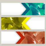 Abstract website header or banner set. Royalty Free Stock Photos