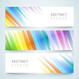 Abstract website header or banner set. Stock Image