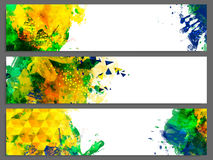 Abstract Website Header or Banner set. Royalty Free Stock Photography