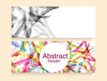 Abstract website header or banner set. Creative colorful abstract website header or banner set for your business Stock Photography