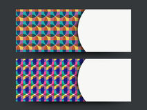 Abstract website header or banner set. Creative glossy Abstract design decorated website header or banner set with space for your message Royalty Free Stock Image