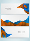 Abstract website header or banner set. Set of creative Abstract website header or banner for your business, company and organization royalty free illustration