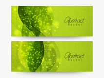 Abstract website header or banner set. Royalty Free Stock Images
