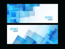 Abstract website header or banner set. Stylish Abstract website header or banner set in blue and white colors vector illustration