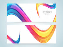 Abstract website header or banner set. Stock Photography