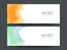 Abstract website header or banner set. Stylish Abstract website header or banner set with colorful splash Stock Photography