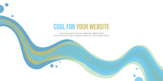 Abstract website header wave style collection stock. Vector illustration Stock Images
