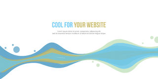 Abstract website header wave style collection. Vector illustration Royalty Free Stock Photography