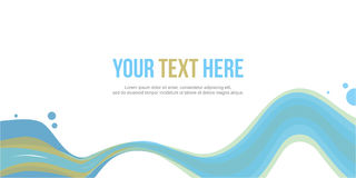 Abstract website header wave style stock. Vector illustration Stock Image