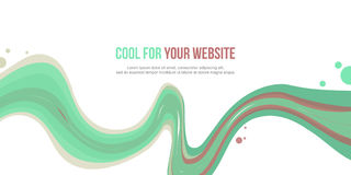 Abstract website header wave style. Vector illustration Stock Photo