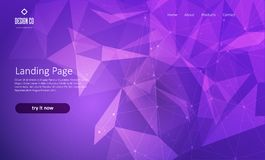 Abstract website landing page with low poly design. Abstract website landing page with a low poly design Vector Illustration