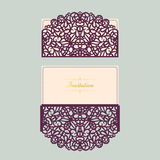 Abstract wedding cutout invitation template. Suitable for lasercutting. Lazercut vector wedding invitation template Royalty Free Stock Photography