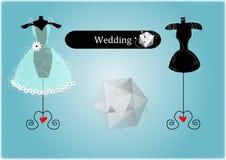 Abstract Wedding Dress Stock Image