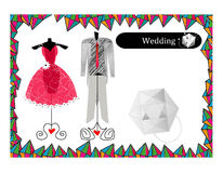 Abstract Wedding Dress Royalty Free Stock Photography