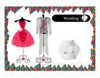 Abstract wedding dress vector illustration