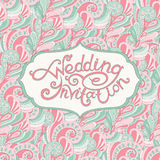 Abstract Wedding Invitation Royalty Free Stock Image