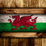 Abstract Welsh flag. Stock Photos