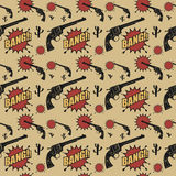 Abstract western seamless pattern Stock Images