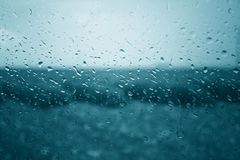 Abstract wet rainy window background Stock Photography