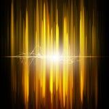 Abstract wetenschapslicht op gouden achtergrond Royalty-vrije Stock Foto