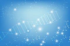 Abstract Wetenschapsmalplaatje, met een DNA-moleculesconcept royalty-vrije illustratie