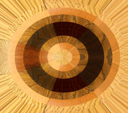Abstract wheel with wood samples Royalty Free Stock Photos