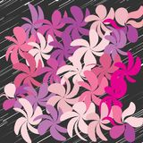 Abstract Whimsical Flower Background Stock Photo