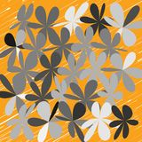Abstract Whimsical Flower Background Stock Images