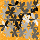 Abstract Whimsical Flower Background Royalty Free Stock Photo