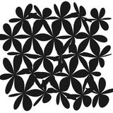 Abstract Whimsical Flower Background. Whimsical Floral  Background, Flower Black and White, Exquisite Gentle Floral Graphic Ornament, Minimalistic Fashion Stock Photo