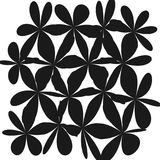 Abstract Whimsical Flower Background. Whimsical Floral  Background, Flower Black and White, Exquisite Gentle Floral Graphic Ornament, Minimalistic Fashion Royalty Free Stock Photos