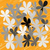 Abstract Whimsical Flower Background Royalty Free Stock Photos