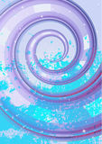 Abstract whirlpool background (no mesh) Royalty Free Stock Photography