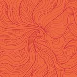 Abstract whirlpool vector seamless pattern in red Royalty Free Stock Images