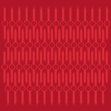Abstract Whist Watch Contour Over Red Background Stock Photography