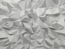 Abstract white 3d faceted background Stock Images