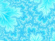 Abstract  White Aqua Blue Branches. Cute nature background. Abstract  White Aqua Blue Branches. Cute nature pattern. Tender pastel background. Floral Fractal art Stock Image