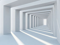 Abstract white architecture Stock Image