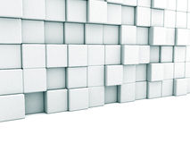Abstract White Architecture Background. Blocks Wall Stock Photo