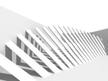 Abstract White Architecture Background. Columns Modern Design. 3d Render Illustration Stock Images