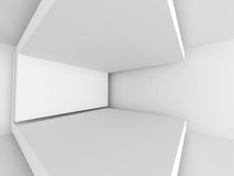 Abstract White Architecture Background. Empty Room Modern Interi. Or. 3d Render Illustration Royalty Free Stock Image