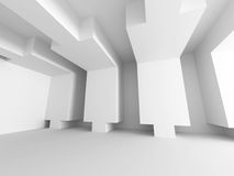 Abstract White Architecture Background. Empty Room Modern Interi Royalty Free Stock Image