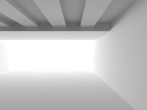 Abstract White Architecture Background. Empty Room Modern Interi. Or. 3d Render Illustration Stock Photos