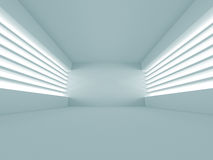 Abstract White Architecture Background. Empty room with window. 3d render illustration Vector Illustration