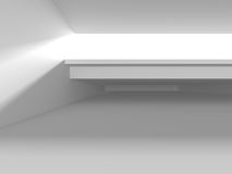 Abstract White Architecture Background. Empty room with window. 3d render illustration Stock Illustration