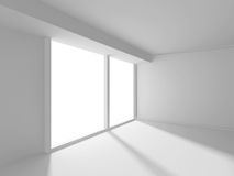 Abstract White Architecture Background. Empty room with window. 3d render illustration Royalty Free Illustration
