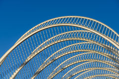 Abstract White Architecture And Blue Sky Stock Photo
