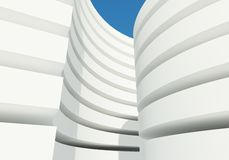 Abstract white architecture building Stock Photos
